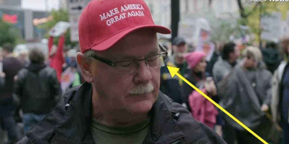 WATCH: Anti-Trump protester spits on man wearing MAGA hat outside Minneapolis rally