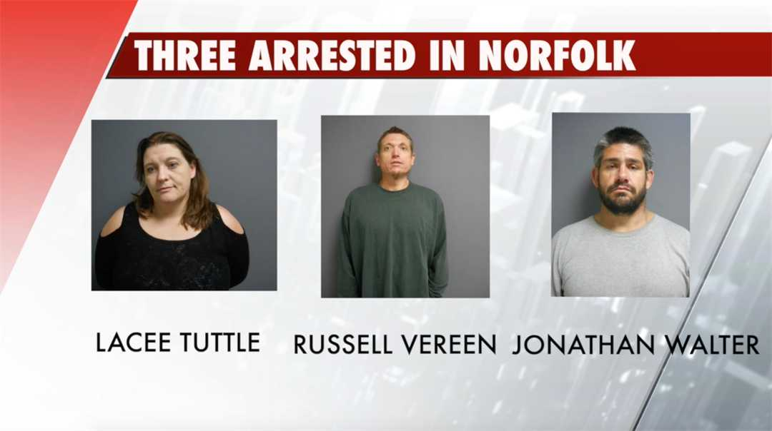 Three arrested in Norfolk after officer investigates suspicious vehicle