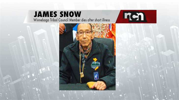 Winnebago Tribal Council member James Snow dies