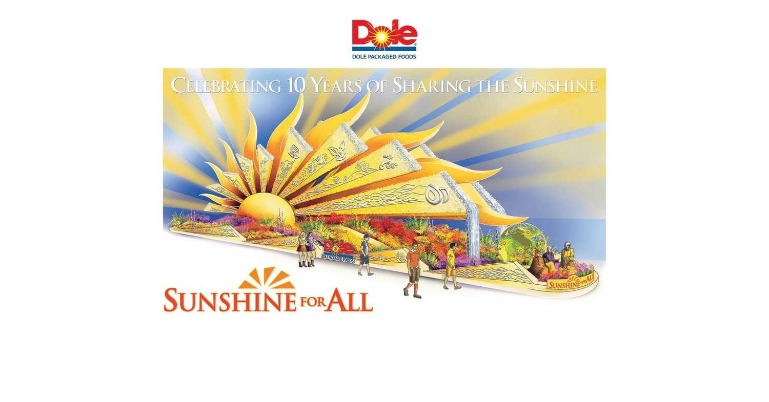 Dole Packaged Foods Spotlights A Healthier Future With 2020 Rose Parade® Float