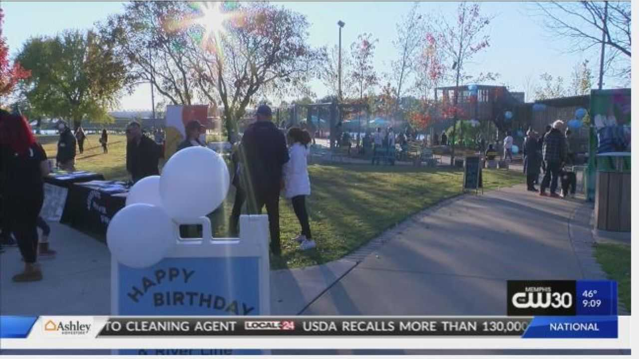 The River Garden and River Line trail hosts birthday party in Downtown Memphis