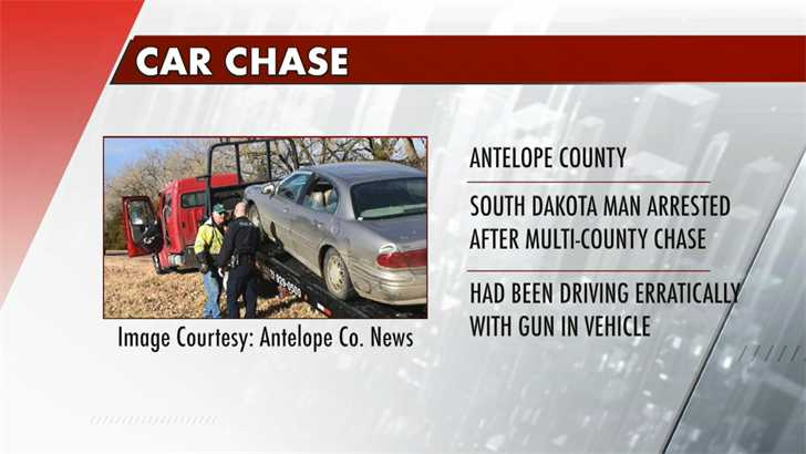 South Dakota man in jail after multi-county pursuit