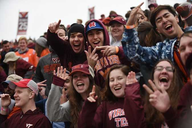 Student ticket seating info for Saturday's VT-Pitt football game