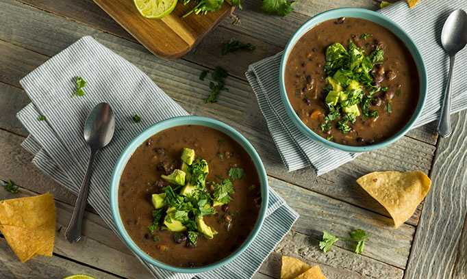 Healthy recipe for black bean slow cooker soup from Healthy Set Go at Allina Health
