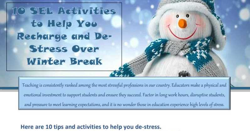 Fabulous Tips Friday: 10 SEL Activities to Help You Recharge and De-Stress Over Winter Break