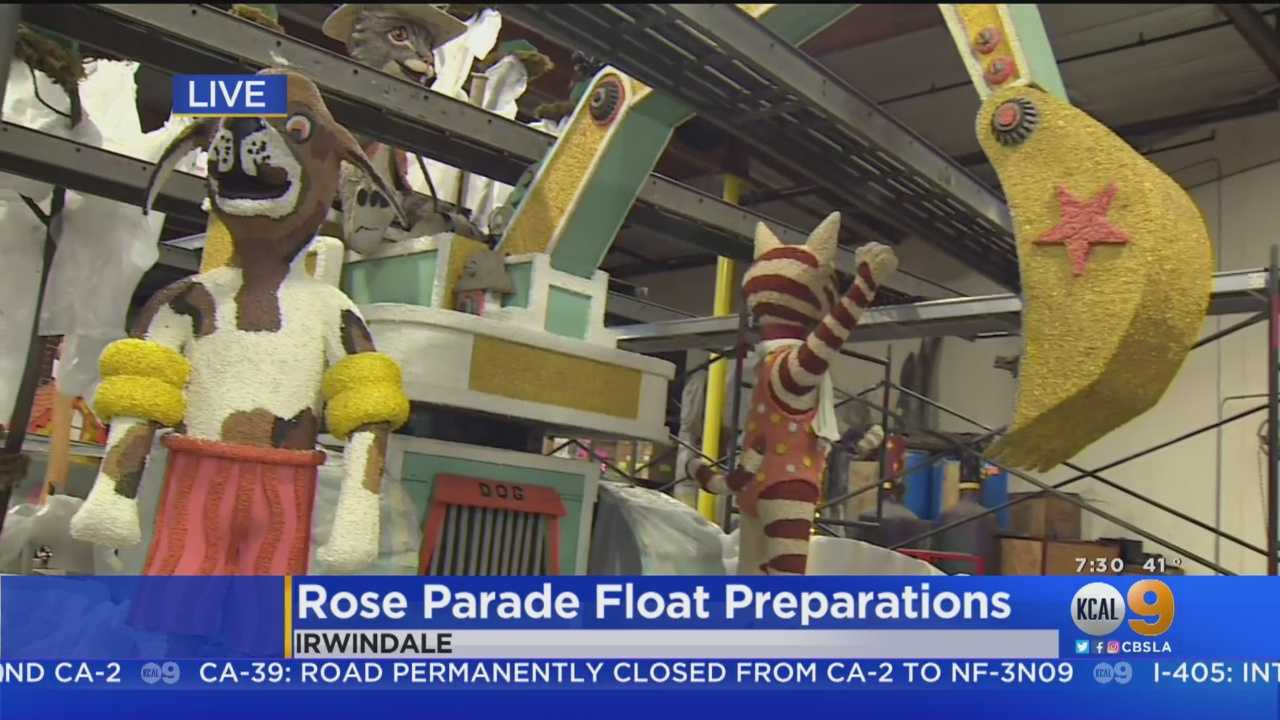 Final Preparations Underway Ahead Of The Rose Parade