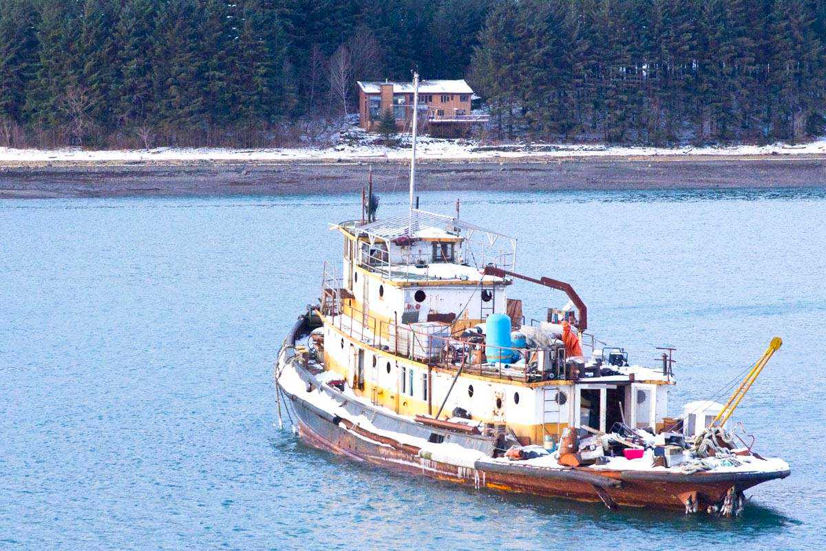 Derelict tug Lumberman goes for unplanned cruise