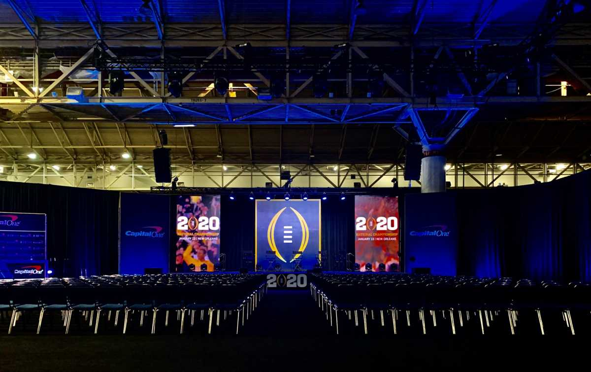 Experiential Learning at the 2020 College Football National Championship