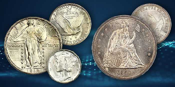 Full Head 1918-S SLQ, Full Bands 1945 Mercury Dime at David Lawrence Rare Coin Auctions