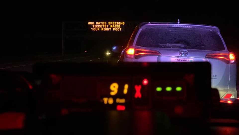 Epic photo shows speeding drivers are not getting the message