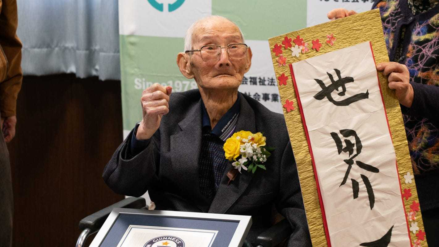 'Keep a smile on your face': World's oldest man shares secret to longevity at 112