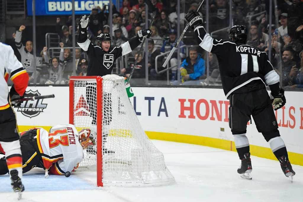 Kings find some scoring touch in gritty victory over Calgary Flames