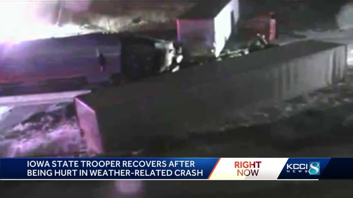 Trooper injured in multi-vehicle I-80 crash
