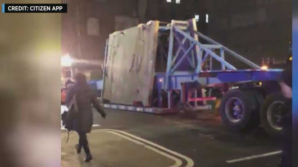 Concrete Falls Off Truck, Blocks Chelsea Intersection During Rush Hour