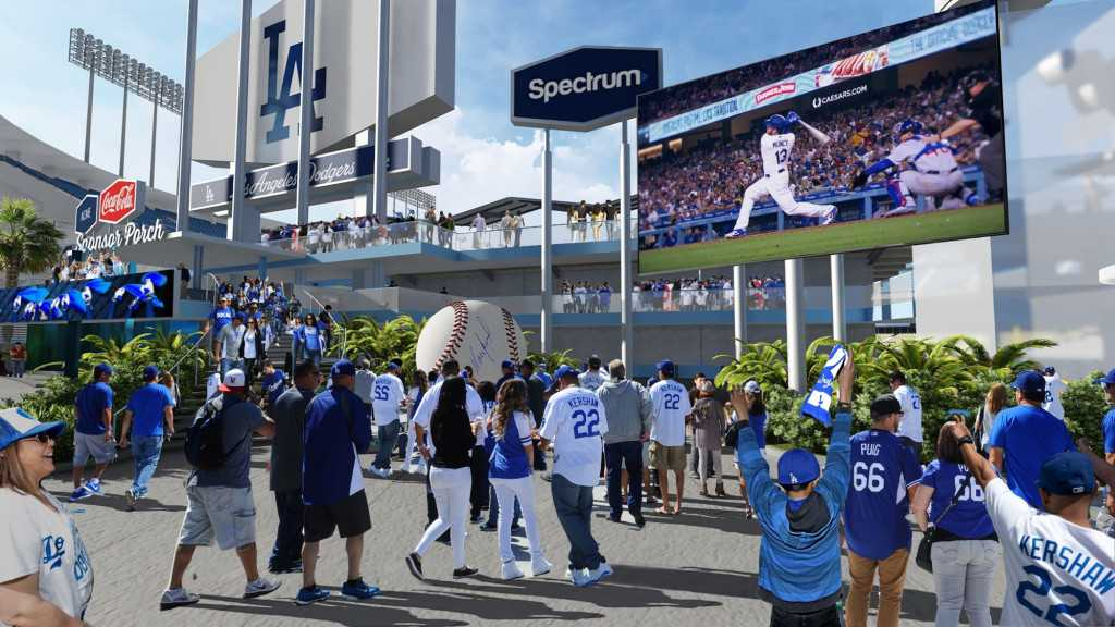 Dodgers share updated renderings of stadium improvements