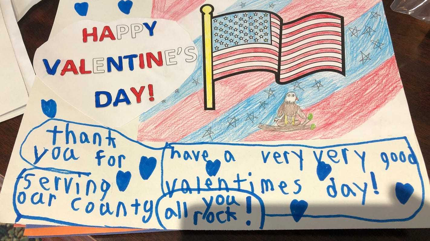 Lake Country students made hundreds of Valentine's Day cards for soldiers overseas