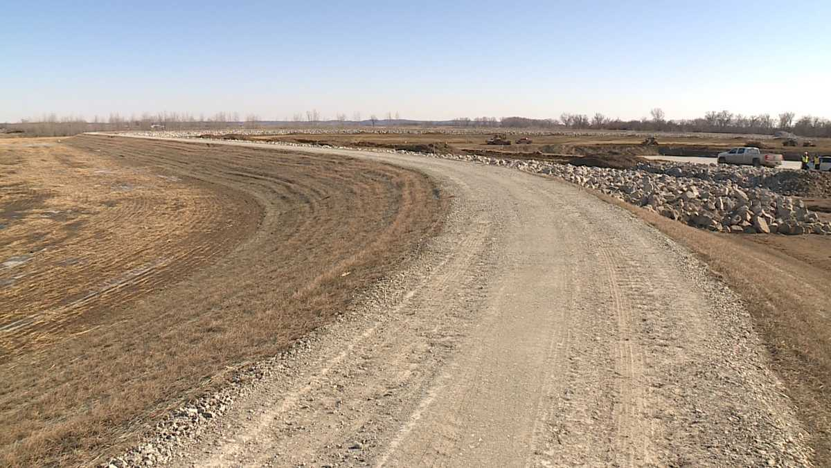 'Monumental milestone': Part of Missouri River levee system back at preflood height