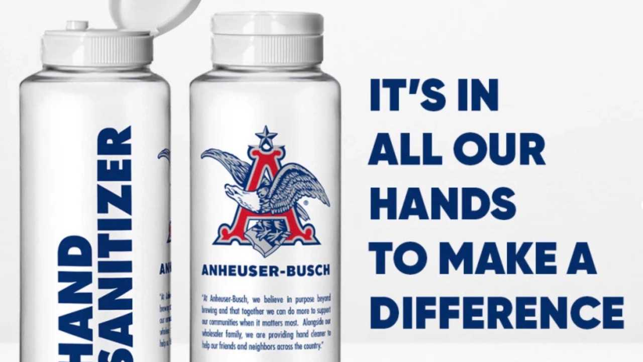 Anheuser-Busch distributing bottles of hand sanitizer to fight COVID-19