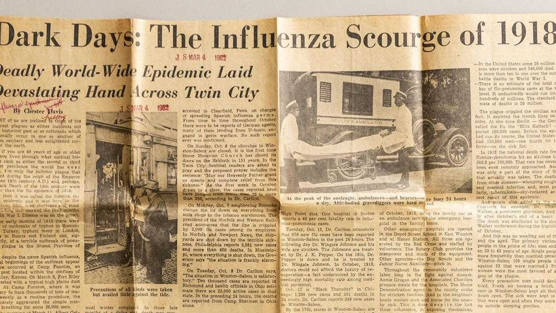 A look back at the 1918 flu pandemic's effects on Winston-Salem