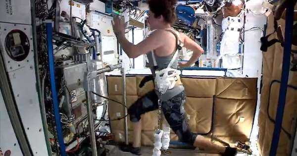 NASA astronauts share their workout routine aboard the ISS to help motivate those on Earth living in isolation amid the coronavirus pandemic
