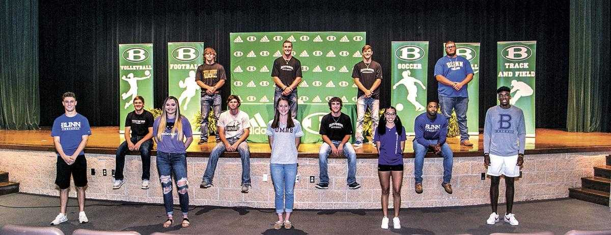 Collegiate letters of intent signed by 15 Brenham student athletes